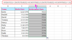 Retirement Formulas How To Calculate Retirement Date From Date Of Birth In Excel