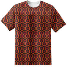 this t shirt is one for the keen eye d amongst you and one who might recognise the interior decor of the mighty grand overlook hotel as seen in the stanley