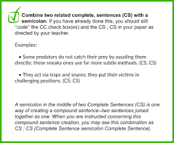 Using A Semicolon To Combine Two Sentences Into One With