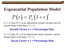 exponential growth function formula population model charming