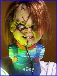 life size chucky doll chucky life size doll prop display mask bust 11 bride of seed fully