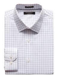 Camden Standard Fit Non Iron Grid Dress Shirt