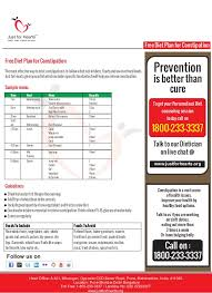 Diet Chart For Constipation Patient Free Diet Plan For Constipation