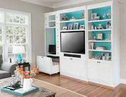 outstanding wall unit with built in desk built