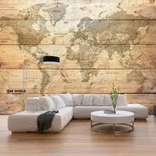 Fotobehang Wereldkaart Op Planken Behang Karo Art Vof