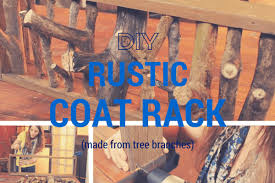 Rustic Coat Rack Tree Impressive How To Make A DIY Rustic Coat Rack From Tree Branches
