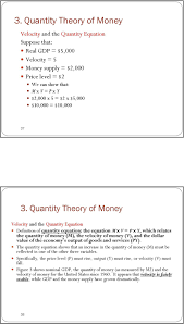 quantity theory of money velocity and the quantity equation definition of quantity equation the equation