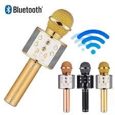 Mic hát karaoke không dây Loa Bluetooth với âm thanh ấm karaoke karaoke cầm  tay mini hát hát hay nhất hiện nay