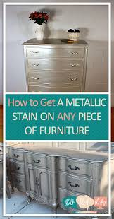 diy metallic furniture. How To Get A Metallic Stain On ANY Piece Of Furniture| Paint Stain, Diy Furniture I