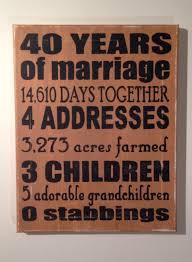 40th wedding anniversary gift ideas for your pas