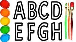 Vẽ và Tô Màu Bảng Chữ Cái Từ ABC - Z đơn giản Đồ Chơi Tô Màu Alphabet Song  Vẽ Tranh Tô Màu - YouTube