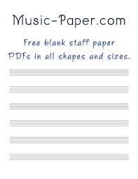 Blank Sheet Of Music Free Blank Sheet Music
