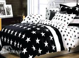 stars bed sets top class five pointed star with black background cotton bedding sets stars bed sets cotton brief style stars bedding