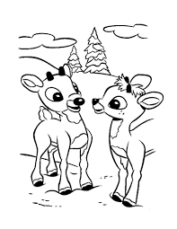 Christmas Baby Reindeer Coloring Pages With New Gallery Printable
