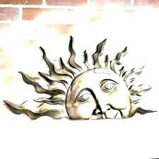 large outdoor sun wall art copper sun outdoor wall art outdoor metal sun wall decor metal