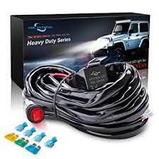 amazon com mictuning hd 300w led light bar wiring harness fuse order on amazon at Light Bar Wiring Harness Bulk
