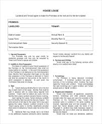 Residential Lease Contract Free 7 Sample House Lease Agreement Forms In Pdf