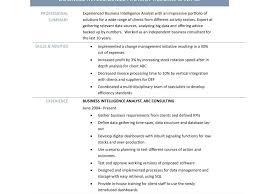 Valuable Design Business Intelligence Resume 13 Business