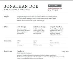 Free Html Resume Template Inspiration Sample Resume Template Html Divergent Personal Vcard Download Free