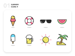 Summer Icons Summer Icons By Jamesfok On Dribbble