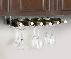 ... Large-size of Dashing Under Cabinet Wine Bottle Glass Rack Channel  Stainless Steel Wine Glass ...