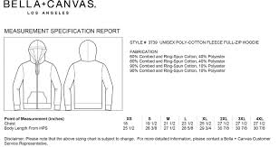Bella Canvas Hoodie Size Chart Pine Springs Soft Spun Cotton Zip Up Embroidered Hoodies