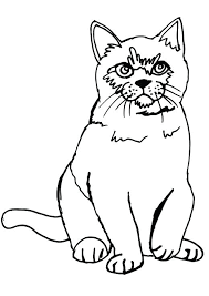 Free Printable Cat Coloring Pages Cat Sitting Coloring Page With