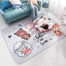 cartoon large living room rugs carpet point plastic bottom play mat flannel rebound kids room decoration