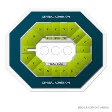 Uno Lakefront Arena 2019 Seating Chart
