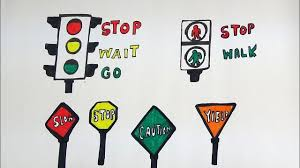 Draw And Color Traffic Signs And Road Signs For Kids Traffic Signs Coloring Page For Kids