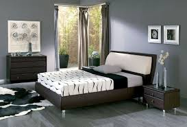 bedroom wonderful simple bedroom with gray color shades also faux leather coated bed the awesome