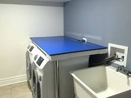 laundry room countertop diy counter over washer and dryer incredible installing he carpentry home ideas 5