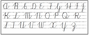 cursive chart uppercase letters