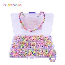 500pcs Colorful Beads Girls <b>DIY Toy Creative Toys Kids</b> Jewelery ...