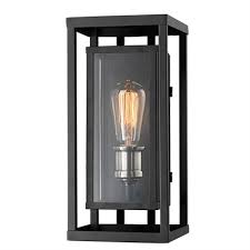 lucid lighting. lucid lighting 155in h black outdoor wall light u