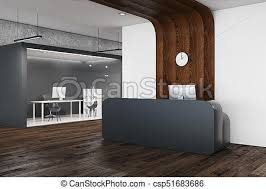 office reception interior. Modern Office Reception - Csp51683686 Interior