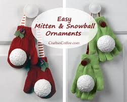 Easy-Mitten-Ornaments-DIYcurrierHow to make easy Christmas ornaments from  mittens and gloves and Styrofoam ballsCute red mitten & snowball DIY ...