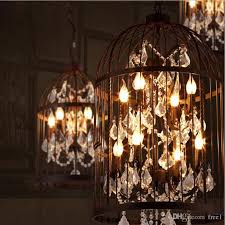 american ault do the old vintage wrought iron chandeliers bird cage lamps crystal lamp living room restaurant villa ac110 240v ce black chandelier modern