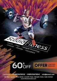 Gym Fitness Flyer Social Media Free Psd Template