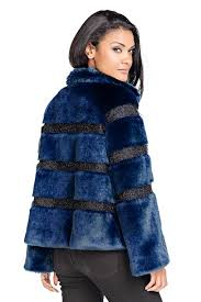 navy faux fur evening jacket 2