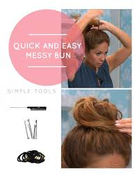Quick Hairstyles For Short Hair 98 Amazing How To Do A Quick And Easy Messy Bun Hair Tips Pinterest Easy