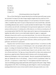 cyberbullying synthesis essay cyberbullying justice