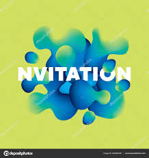 Vibrant Header Cool Vibrant Color Organic Shapes Vector Pattern Stock Vector