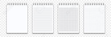 Notebook Templates Notebook Memo Notepad Templates Vector Note Pad Or Diary Line
