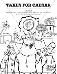 Small Picture Luke 20 Taxes For Caesar Sunday School Coloring Pages Sunday