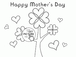 Small Picture Flowers Tree for Mothers Day coloring page for kids coloring
