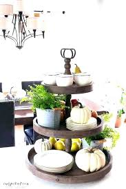 wooden tiered tray 3 tier wood tray round wood 2 tier tray stand with handle wooden