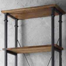 Myra II Vintage Industrial Modern Rustic Bookcase by iNSPIRE Q Classic by  iNSPIRE Q