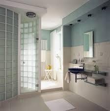 glass block shower shower glass block wall