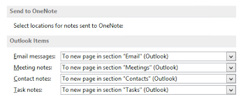 Onenote Templates 2013 Default Template For Outlook Items Sent To Onenote